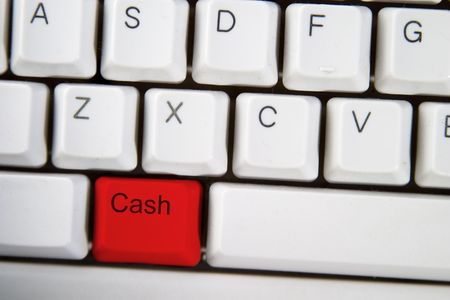 action fund: Isolated ALT on from a computer desktop keyboard highlighted in red