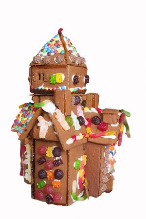 goodie: Ginger bread house detail.