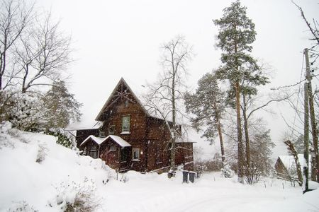 frigid: A large house in the Nordstrand area, Oslo Norway