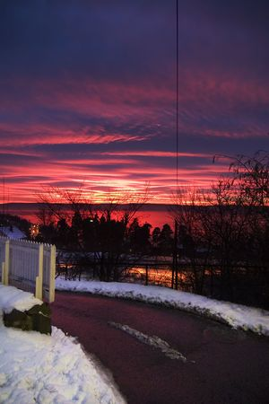 Sunset in Oslo Norway photo