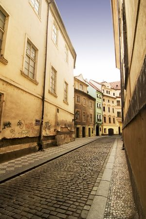 A quaint tiny alley (Seminarska) in Prague, Czech Republic Stock Photo - 360853