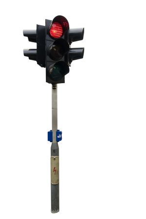 An isolated traffic light from Prague. Stock Photo - 378862