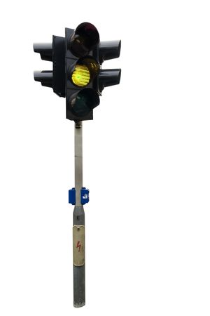 An isolated traffic light from Prague with the green light showing Stock Photo - 378838