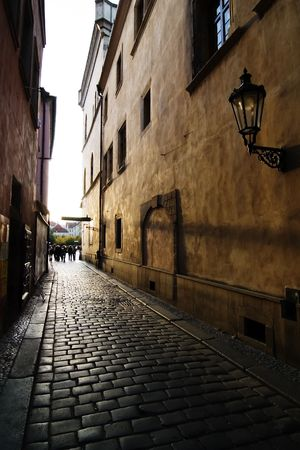 A small street in Prague, Czech Republic. photo