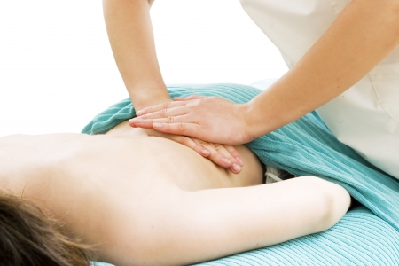 Massaging the lower back at a beauty spa. Stock Photo - 378649