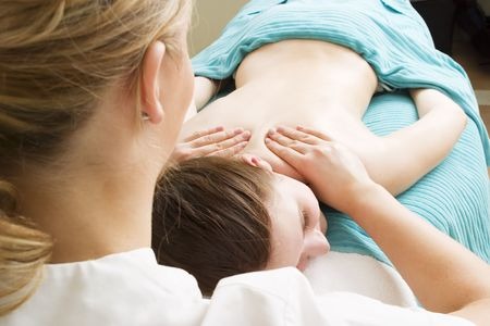 Shoulder massage detail at a beauty spa. Stock Photo - 378645