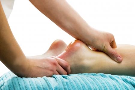 Foot massage, a little taste of luxury. photo