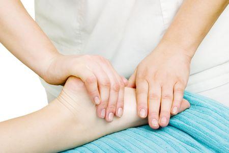 massage pied: Foot massage detail image.