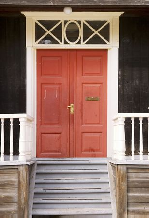 古いヴィンテージの木製ドア詳細 写真素材