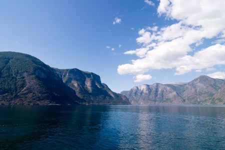 Aurlandsfjord which is part of Sognefjord, Norway. photo