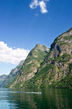 Sognefjord near Gudvangen in the western area of Norway. photo