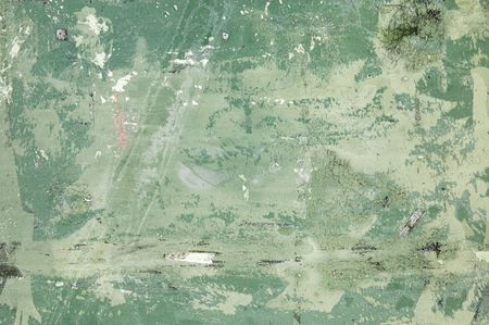 chipped paint: A green grunge texture with scratches, stains, chipped paint and a little frost.