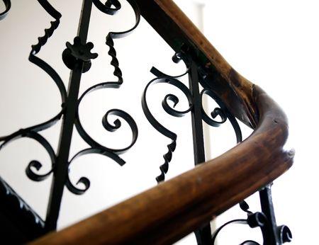 apartmant: An old railing in a european apartmant building.