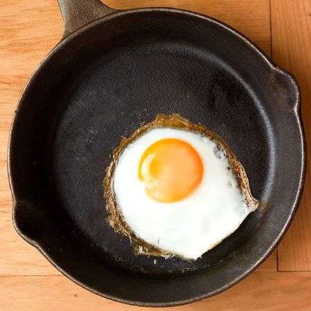 A fried in a cast iron pan. Stock Photo - 1894895