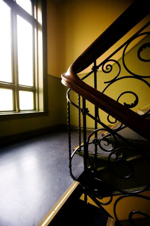 mood moody: A staircase with a art nouveaux banister
