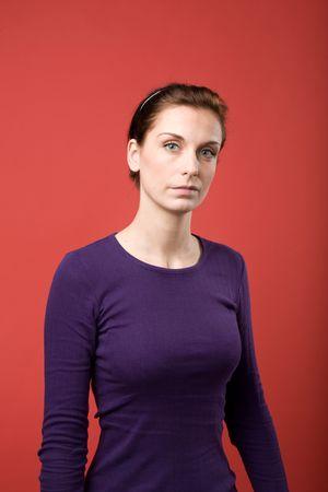A casual portrait of a brunette caucasian female Stock Photo - 2346358