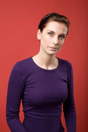A casual portrait of a brunette caucasian female Stock Photo - 2346391
