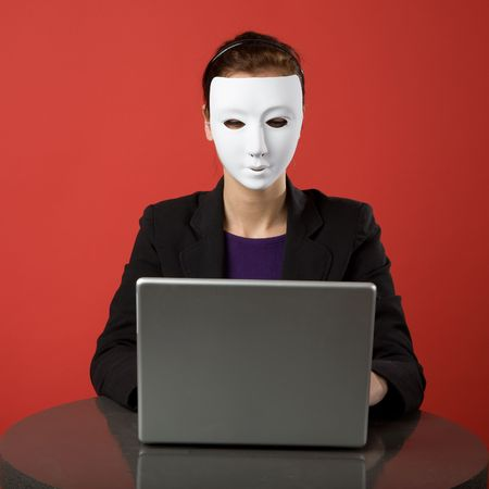 A female surfing the web anonymously Stock Photo - 2346285