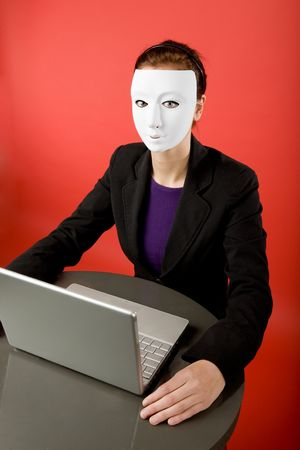 A female surfing the web anonymously Stock Photo - 2346319