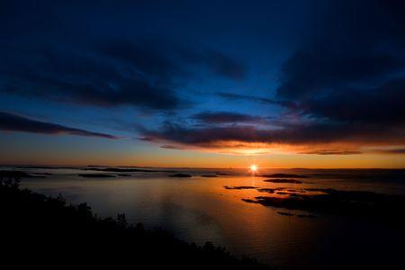 Beautiful coastal Landsacpe on the very outside of the Oslo Fjord near Fredrikstad, Norway. Stock Photo - 2348570