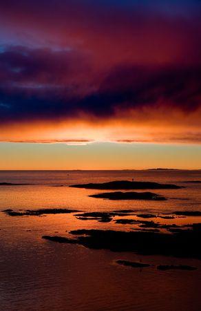 fredrikstad: Coastal Landsacpe on the very outside of the Oslo Fjord near Fredrikstad, Norway.