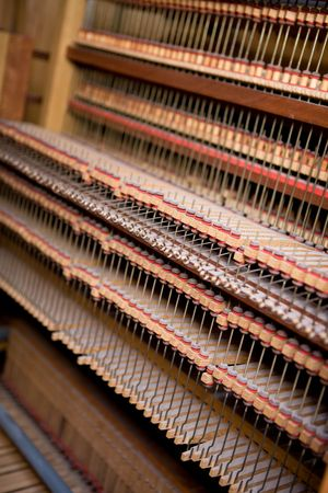 Interior of an old wooden pipe organ Stock Photo - 2532597