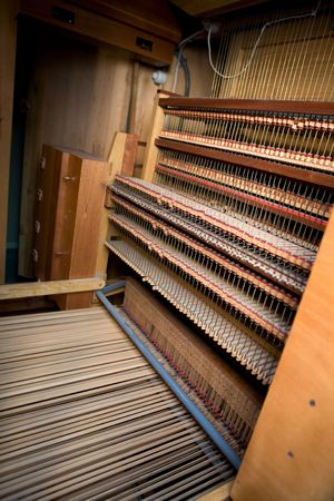 classical mechanics: Interior of an old wooden pipe organ Editorial
