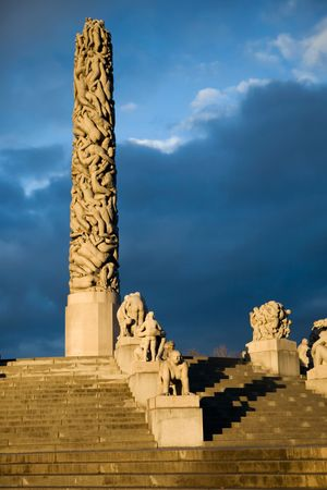 Monolith: The monolith at the vigeland park in Oslo, Norway