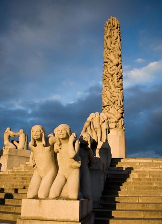 The vigeland sculpture park in Oslo, Norway photo