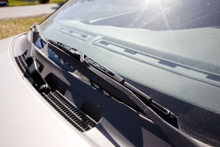 A windshield wiper detail on a car Stock Photo - 2948099