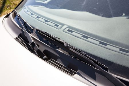 A windshield wiper detail on a car Stock Photo - 2946939