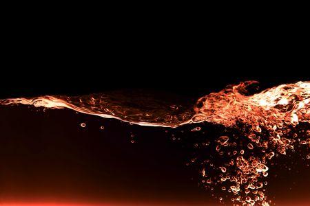 carbonation: Un rojo fuego de agua resumen de antecedentes  Foto de archivo