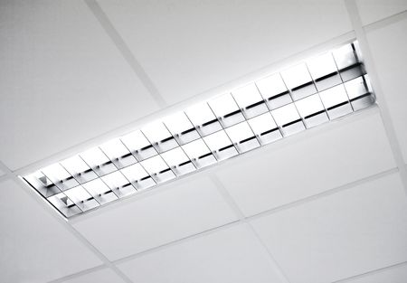 A fluorescent light set in the roof photo