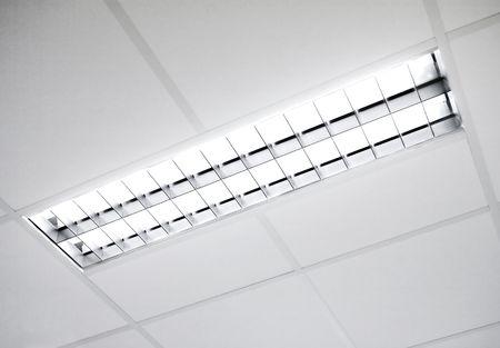 florescent light: A fluorescent light set in the roof
