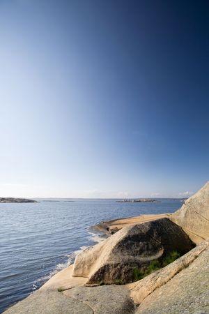 fredrikstad: A coastal landscape in the south east of Norway near Fredrikstad Stock Photo