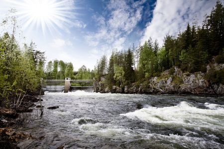 A hydro electric plant on a river Stock Photo - 3277624