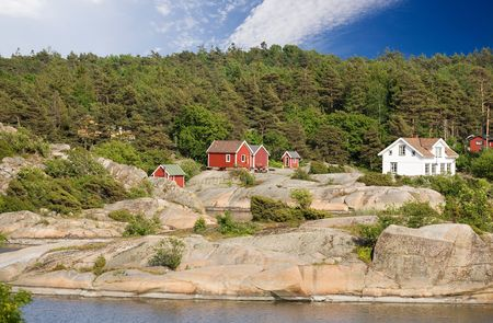 fredrikstad: A typical house on the coast of norway