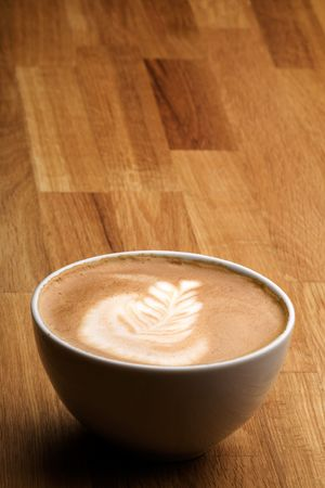 capucinno: Cappuccino with latte art and copy space room