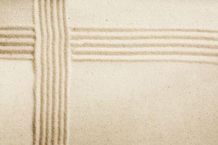 Sand background image - Japanese zen style art photo