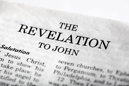 end times: The last book of the Bible - Revelations Stock Photo