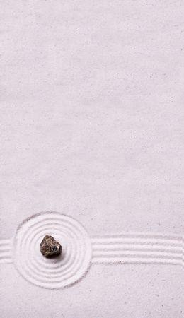 簡単な禅の石庭設計荒い石 写真素材