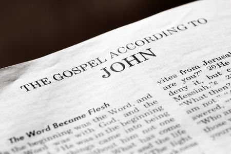 A detail of a christian bible of the start of the book of John Stock Photo - 3844044