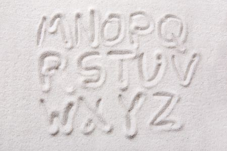 Second half of an upper case alphabet written in sand - a designers tool photo