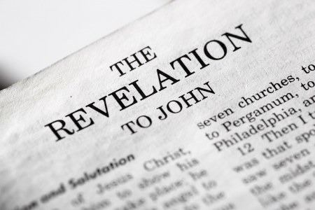 The last book of the Bible - Revelations Stock Photo