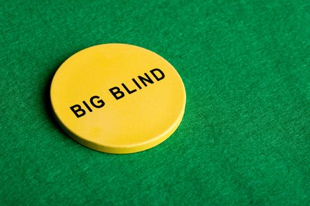 tokens: A big blind chip for poker