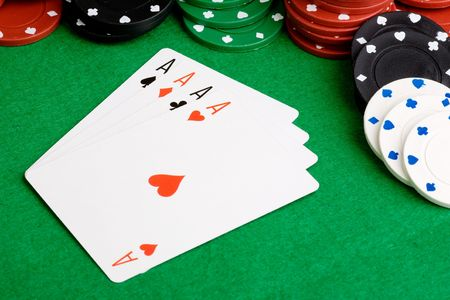 Four Aces in a poker hand Stock Photo - 3888382