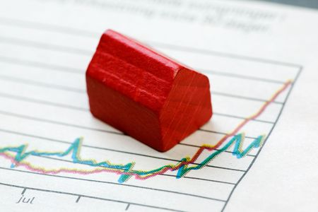 A positive housing market concept and graph Stock Photo - 3919335