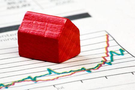 A positive housing market concept and graph Stock Photo - 3924804