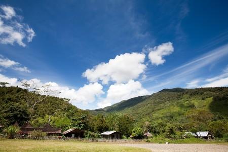 A primitive mountain village in Indonesia Stock Photo - 4192181