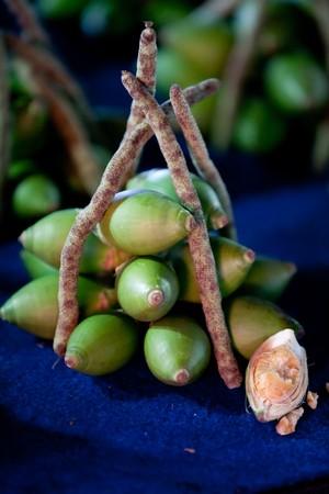 betelnut: Areca nut (betel nut) for sale in a market